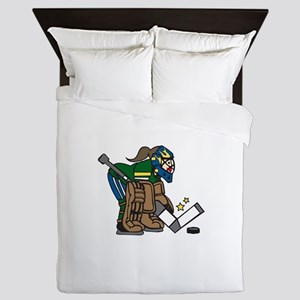 Goalie Girl Queen Duvet
