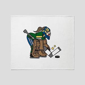 Goalie Girl Throw Blanket