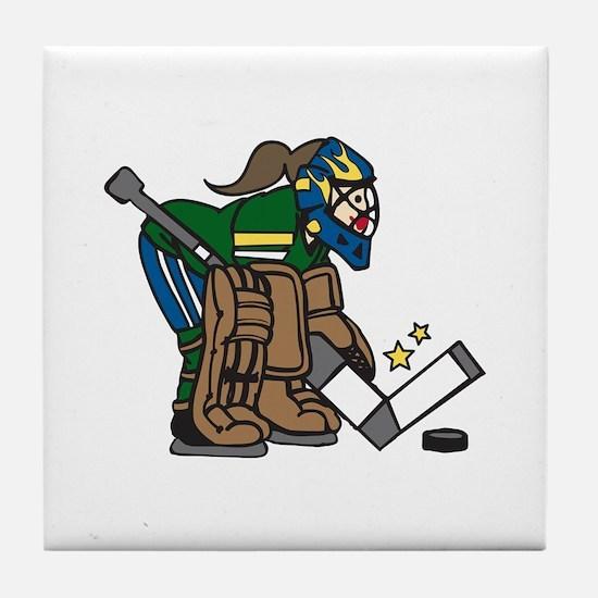 Goalie Girl Tile Coaster