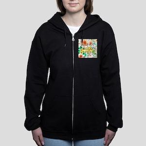 Alpha Epsilon Phi Floral Women's Zip Hoodie