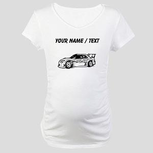 Custom Race Car Maternity T-Shirt