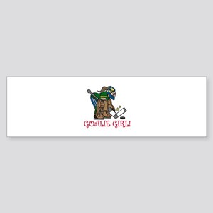 Goalie Girl Bumper Sticker