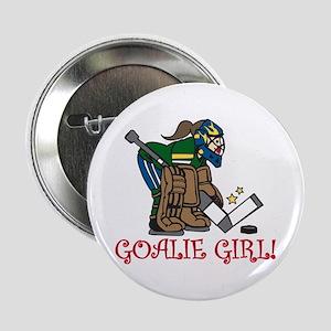 """Goalie Girl 2.25"""" Button"""