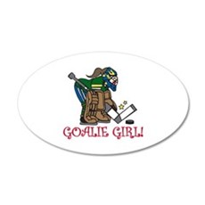 Goalie Girl Wall Decal