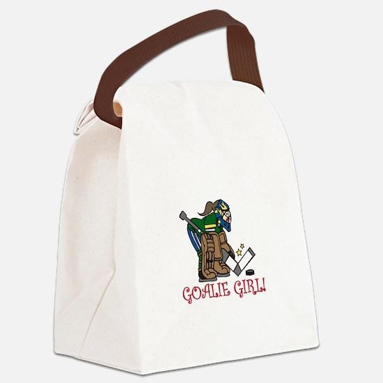 Goalie Girl Canvas Lunch Bag