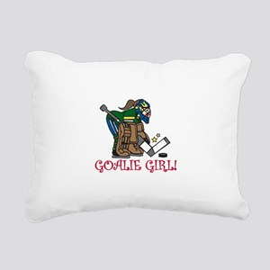 Goalie Girl Rectangular Canvas Pillow