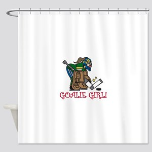 Goalie Girl Shower Curtain