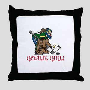 Goalie Girl Throw Pillow