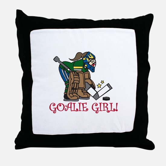 Goalie Girl Throw Pillow