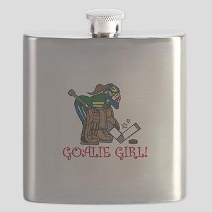 Goalie Girl Flask