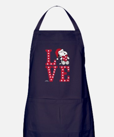 Snoopy Love Apron (dark)