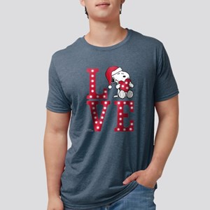 Snoopy Love Mens Tri-blend T-Shirt