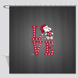 Snoopy Love Shower Curtain