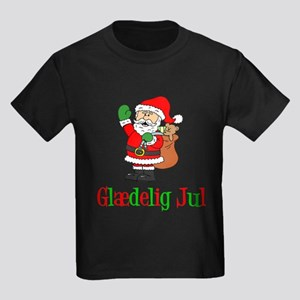 Glaedelig Jul Santa Child T-Shirt