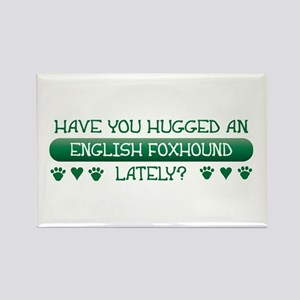 Hugged Foxhound Rectangle Magnet