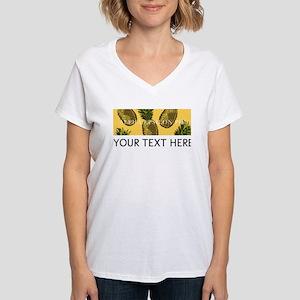 Alpha Epsilon Phi Pineapple Women's V-Neck T-Shirt