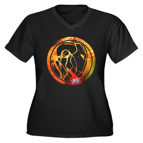 1357234689 V Cafepress shirt Size Women's neck Plus Dark T 8ttzwqS