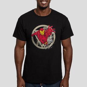 Iron Man Repulsor Men's Fitted T-Shirt (dark)