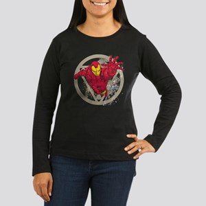 Iron Man Repulsor Women's Long Sleeve Dark T-Shirt