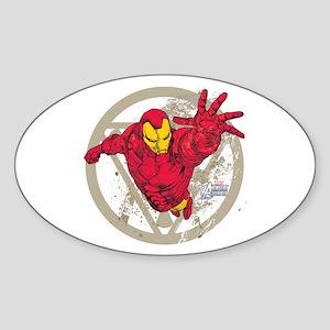 Iron Man Repulsor Sticker (Oval)