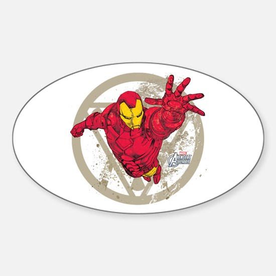 Iron Man Repulsor Sticker (Oval)