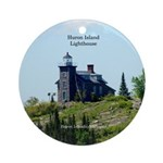 Huron Island Lighthouse Round Ornament