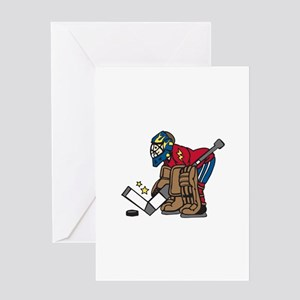 Hockey Goalie Greeting Cards