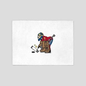Hockey Goalie 5'x7'Area Rug