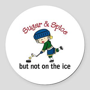 Sugar & Spice Round Car Magnet