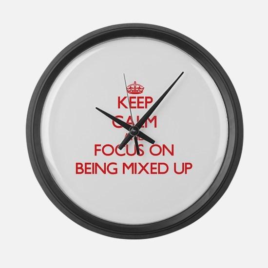 Funny Mixed up Large Wall Clock