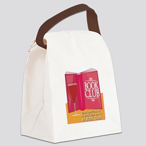 What Happens At Book Club Canvas Lunch Bag