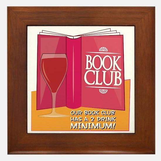 Our Book Club Framed Tile