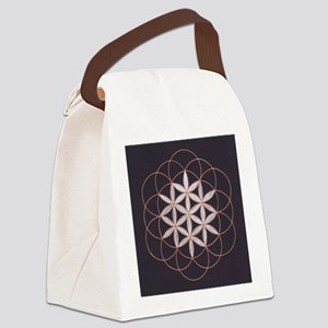 Flower of Life Canvas Lunch Bag