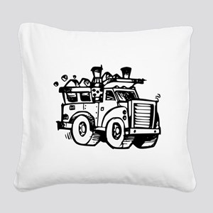 Garbage Truck Square Canvas Pillow