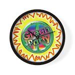 Green Party Peace Sun/flower Wall Clock