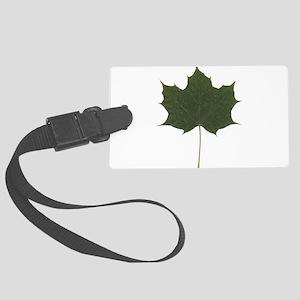 Green Autumn Fall Seasonal Leaf Luggage Tag