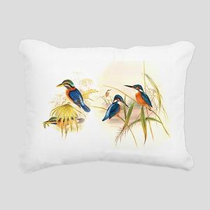 Goulds Kingfisher Birds Rectangular Canvas Pillow