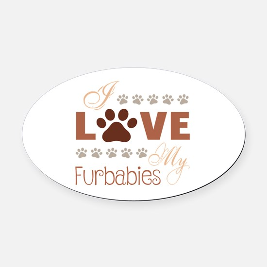 Cute Family and baby Oval Car Magnet