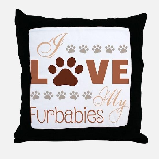 Cute Fur Throw Pillow