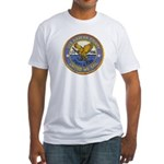 USS HARLAN COUNTY Fitted T-Shirt