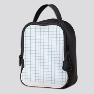 Graph Lined Paper Texture Neoprene Lunch Bag
