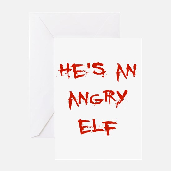 Angry Elf Greeting Cards