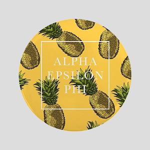 "Alpha Epsilon Phi Pineapples 3.5"" Button"