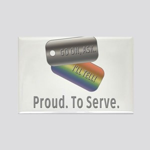 Proud. To Serve. Rectangle Magnet