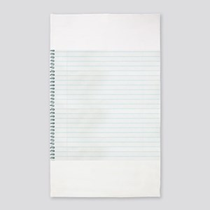 Lined Notebook Paper Texture 3'x5' Area Rug