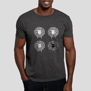 Black Faced Yarn Sheep Dark T-Shirt