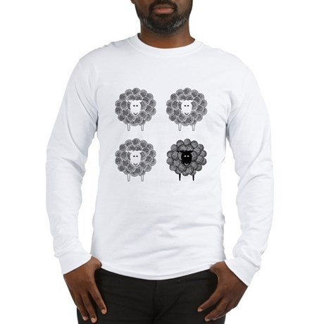 Black Faced Yarn Sheep Long Sleeve T-Shirt