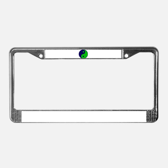 Ying yang License Plate Frame