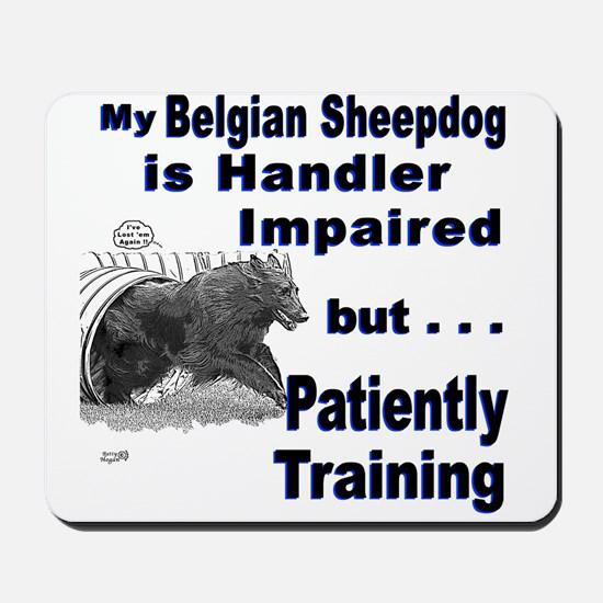 Belgian Sheepdog Agility Mousepad