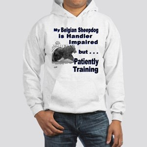 Belgian Sheepdog Agility Hooded Sweatshirt